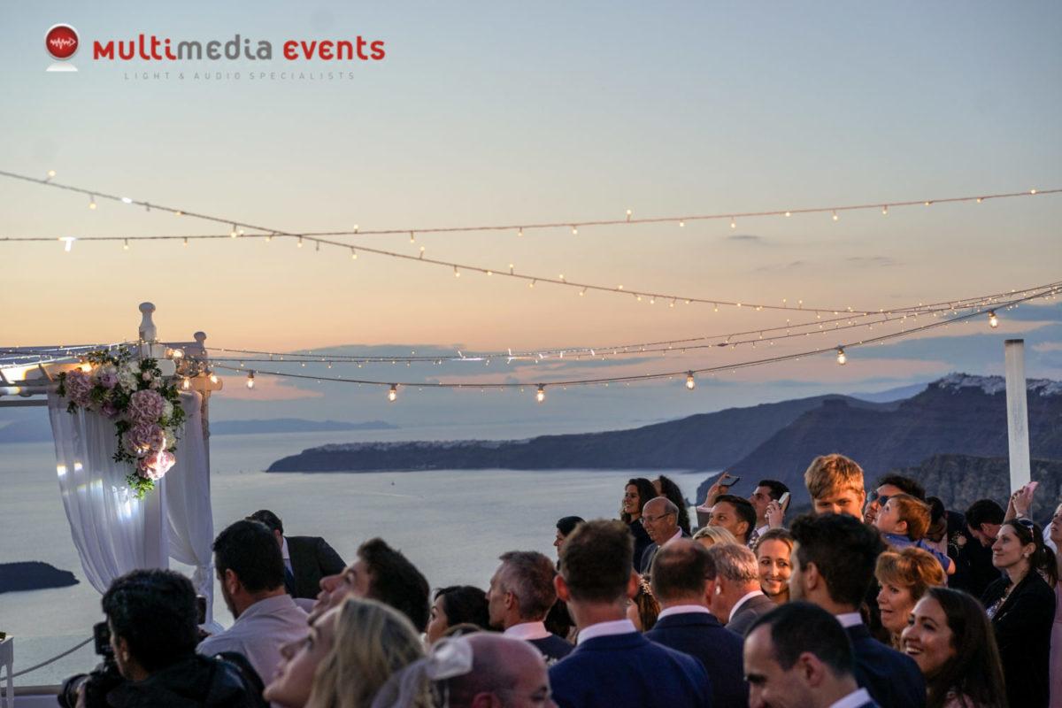 Events in Santorini - Multimedia events - Weddings - DJ